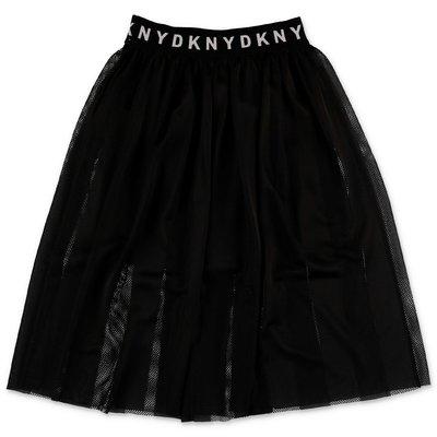 DKNY gonna nera in techno tessuto