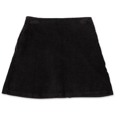 DKNY black logo detail corduroy skirt