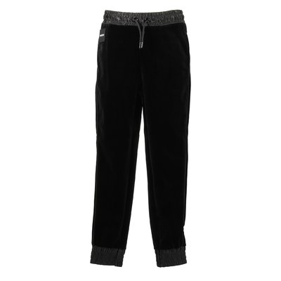 Black chenille pants