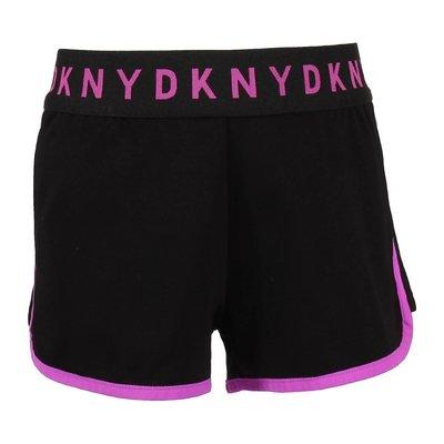 Shorts neri in misto viscosa con dettaglio logo