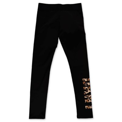 DKNY black stretch techno fabric leggings