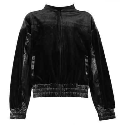 도나 카란 뉴욕 주름 디테일 보머 재킷