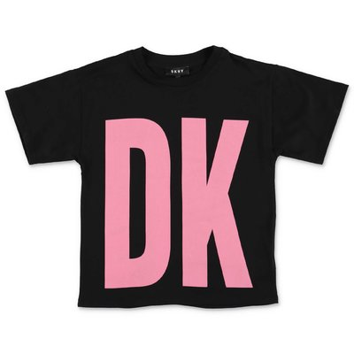 DKNY black logo detail cotton jersey t-shirt