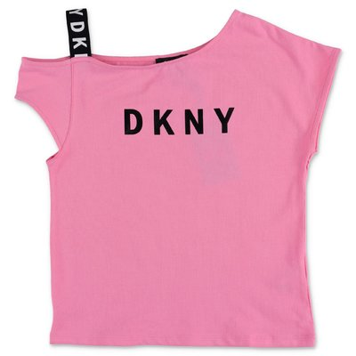 DKNY pink cotton jersery t-shirt