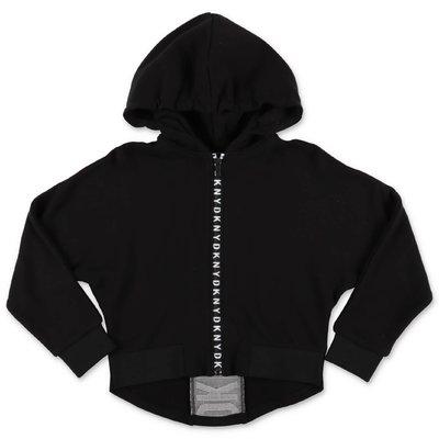 DKNY black cotton hoodie