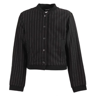 Black striped techno fabric jacket