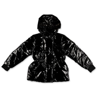 DKNY piumino nero in nylon spalmato