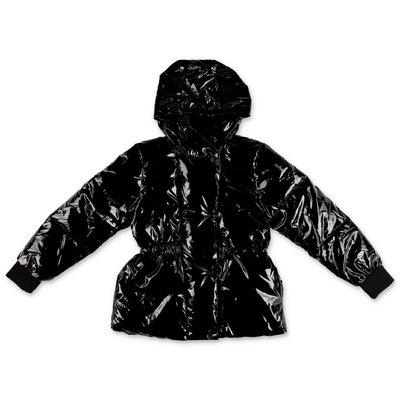 DKNY black nylon coated nylon down jacket