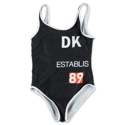 DKNY black spandex one piece swimsuit