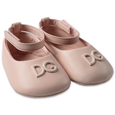 Pink prewalker leather ballerinas