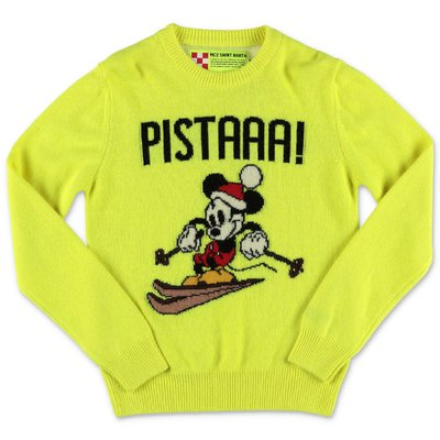 MC2 Saint Barth fluorescent yellow wool blend knit jumper