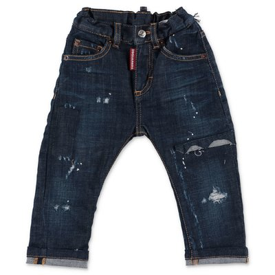 DSQUARED2 blue stretch cotton denim jeans