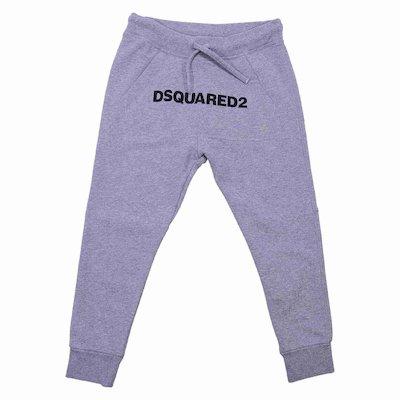 Marled grey cotton sweatpants