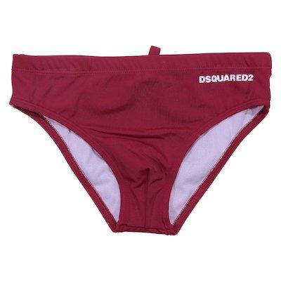 Costume shorts da mare rosso