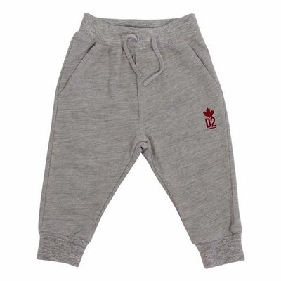 DSQUARED2 melange grey logo detail cotton sweatpants