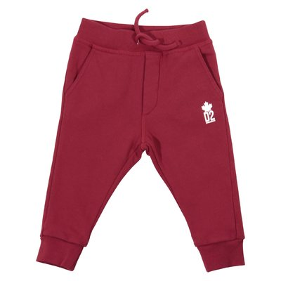 Red cotton sweatpants