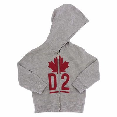 DSQUARED2 melange grey logo detail cotton hoodie