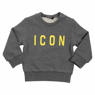 Icon dark grey cotton sweatshirt