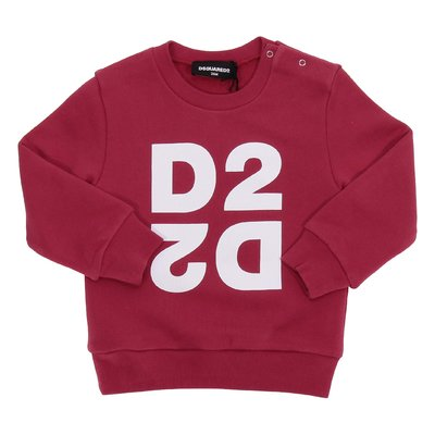 DSQUARED2 red logo cotton sweatshirt