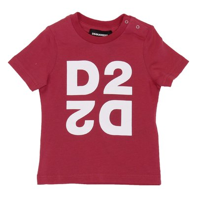 DSQUARED2 red logo cotton jersey t-shirt