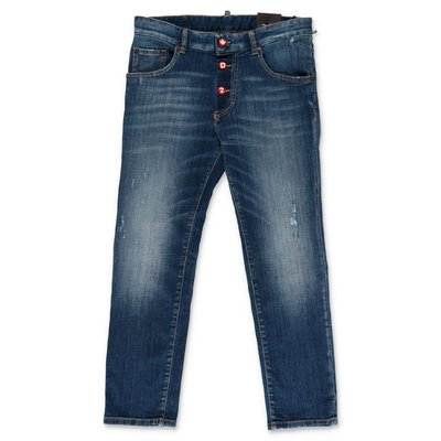 DSQUARED2 jeans blu in denim di cotone stretch