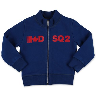 DSQUARED2 felpa blu royal in cotone