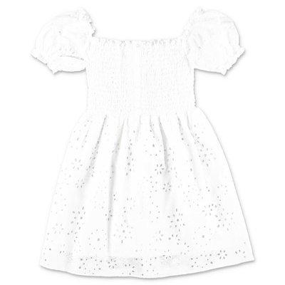 MC2 SAINT BARTH white embroidered cotton dress
