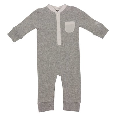 Bonpoint melange grey cotton romper
