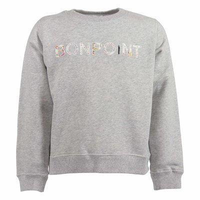 Grey logo cotton sweatshirt