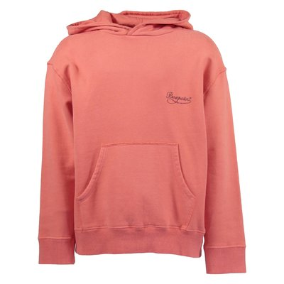 Red coral cotton hoodie