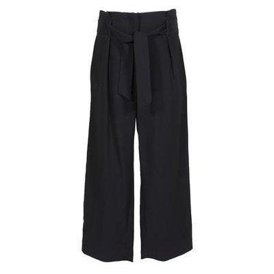 Navy blue viscose wide pants