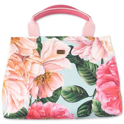 Dolce & Gabbana floral print cotton canvas bag