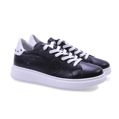 Sneakers nere in pelle