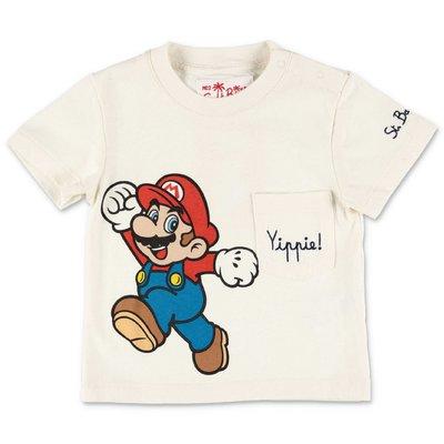 MC2 SAINT BARTH t-shirt bianca in jersey di cotone Super Mario limited edition
