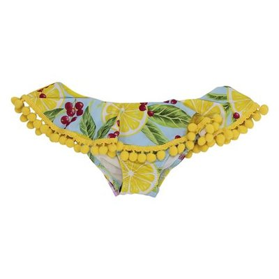 Costume slip da mare in lycra tema fruit