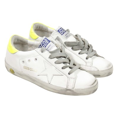 White leather Superstar sneakers