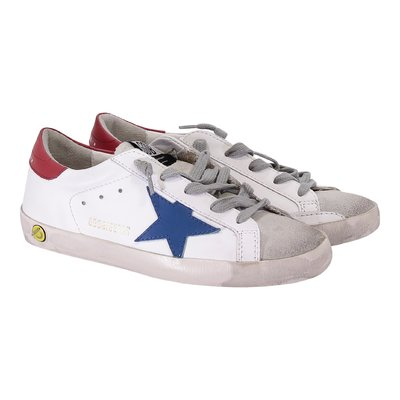 Golden Goose white laced Superstar sneakers