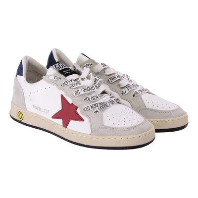 Golden Goose white leather Ballstar laced sneakers