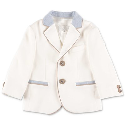 Modì set with white jacket, gilet, shirt & sky blue pants