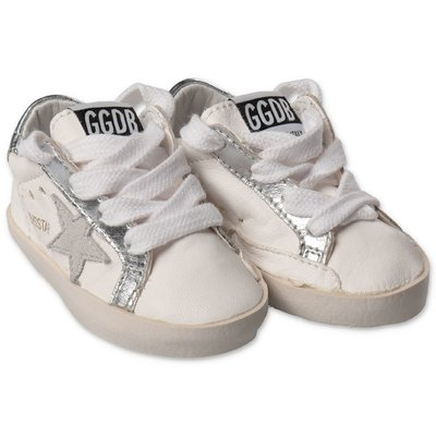 Golden Goose Baby Star white nappa leather sneakers with laces