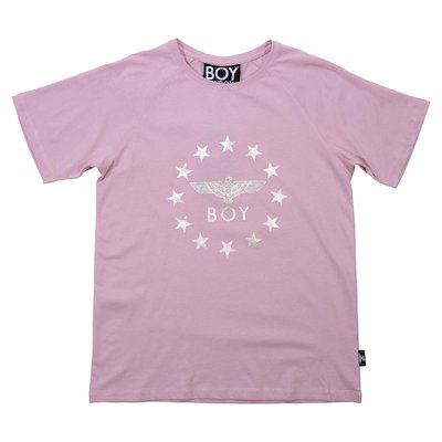 Pink cotton jersey t-shirt