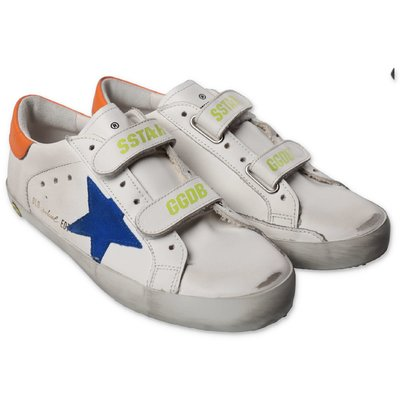 Golden Goose white Old School Edt leather sneakers with velcro