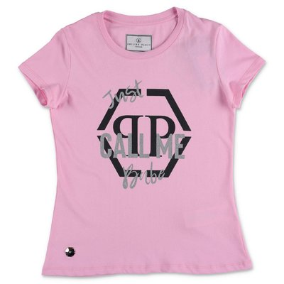 PHILIPP PLEIN pink cotton jersey t-shirt