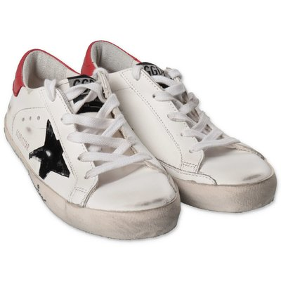 Golden Goose white Super Star leather sneakers with laces