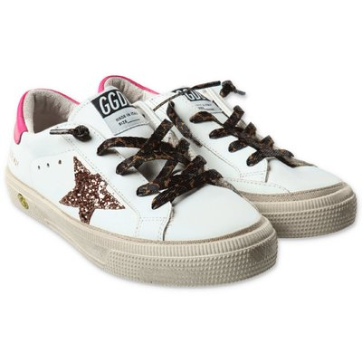 Golden Goose white leather sneakers with laces