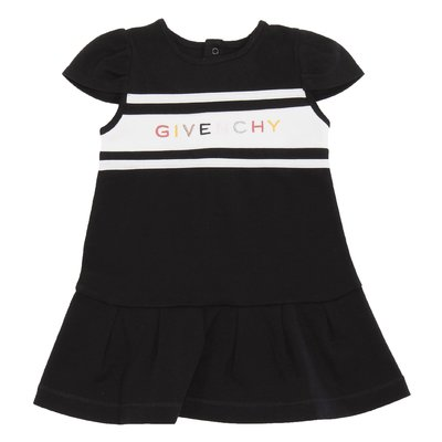 Givenchy black logo detail cotton jersey dress
