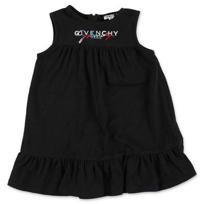 Givenchy abito nero in jersey di cotone