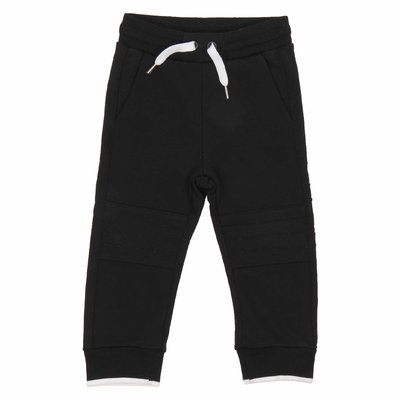 Pantaloni neri in felpa di cotone