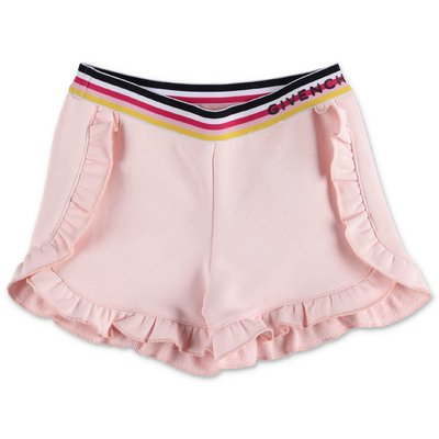 Givenchy powder pink cotton sweat shorts