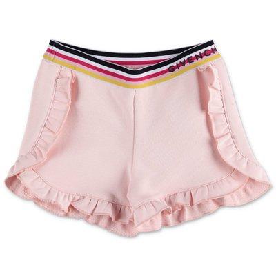Givenchy shorts rosa cipria in felpa di cotone